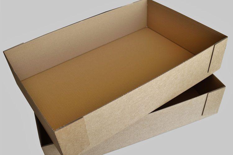 Aufrichten geklebte Verpackung