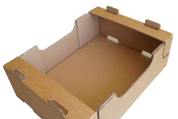 Aufrichten gesteckte Verpackungen