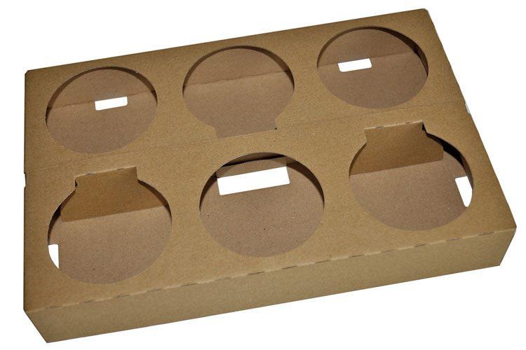 Aufrichten Verpackung Lochtrays
